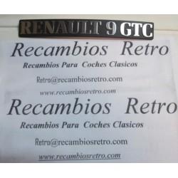 ANAGRAMA TRASERO RENAULT 9 GTC