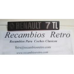 ANAGRAMA TRASERO RENAULT-7 TL